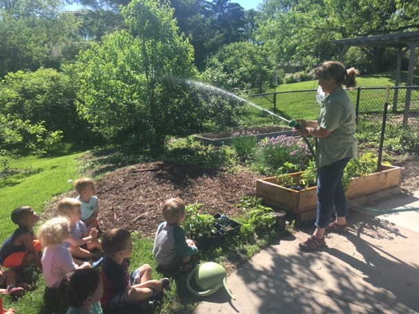 In The Garden, Kristin, Our Environmental Specialist, Gave Us Lessons In  How We Can Help Her Care For The Plants At PSA. We Committed To Being Her  Helpers ...