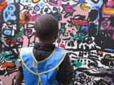 "Collaborating on a Mural – ""Neighborhood of Happiness"""